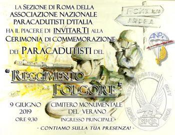 """Cerimonia commemorazione Rgt. """"Folgore"""" - 2019"""
